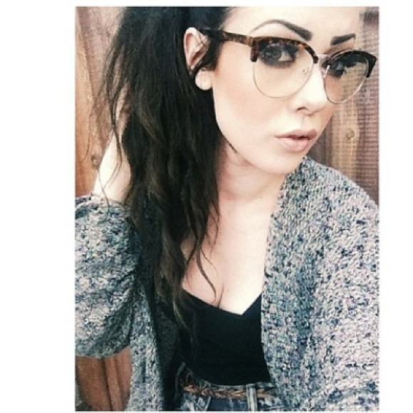 Urban Outfitters Half Rimmed Nerd Reader Glasses From