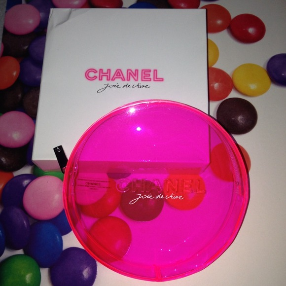 830c74e6d48aca CHANEL Bags | Makeup Bag Case Gift Box Clear Neon Pink | Poshmark