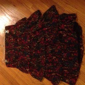Forever 21 floral/leopard print Colourful dress