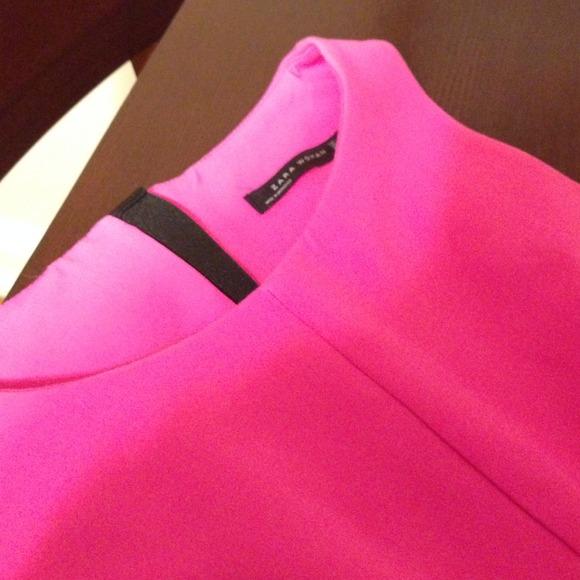 Zara Tulip Dress Zara Hot Pink Tulip Dress