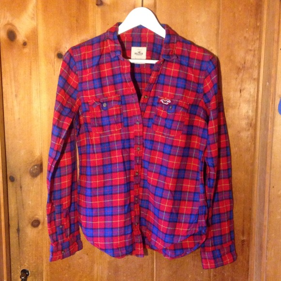 75 off hollister tops holiday sale hollister flannel for Womens christmas flannel shirt