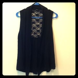 Black Silky/Lace Pullover
