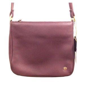 Etienne Aigner Leather Over Shoulder Bag Purse