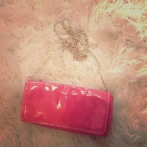 J. Crew coral patent leather cross body