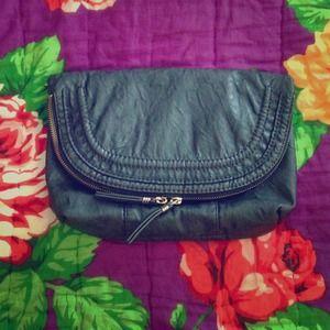 black clutch. (Gap) 