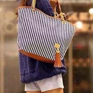 Handbags - Striped Handbag
