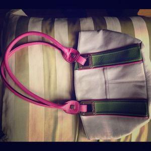 Beautiful Tignanello leather shoulderbag