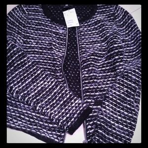 New H&M black and white sweater jacket