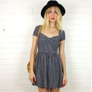 MINKPINK Dresses & Skirts - ❌SOLD❌Mink pink navy white striped skater dress