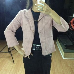 MOSSIMO pink striped blazer
