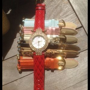 Watch with Different Animal Pattern Bands.