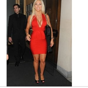 Red  Celebrity bandage bodycon new w/o tags S/M