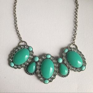 Big green stones necklace REDUCED