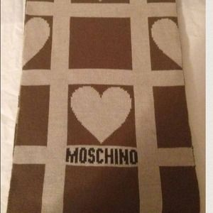Moschino Heart Scarf Authentic Tan