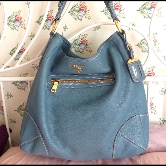 2f7068e6ed60 Prada Bags | Authentic Vitello Daino Hobo Elegant Marine | Poshmark