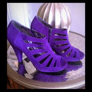 Purple booties