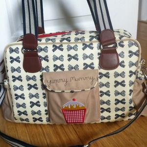 Yummy Mummy Cupcake Diaper Bag by Pink Lining