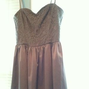 H&M silk grey lace dress with straps