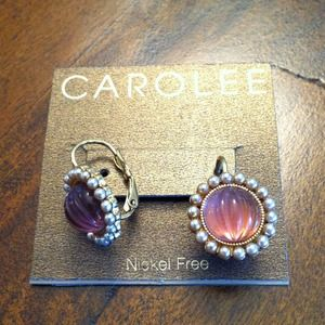 Carolee Jewelry - Carolee lavender and pearl earrings