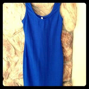 Royal textured body con dress