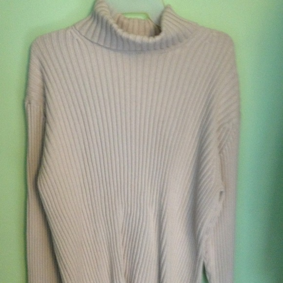 Gap Sweaters Mens Cream Ribbed Knit Turtleneck Sweater Poshmark