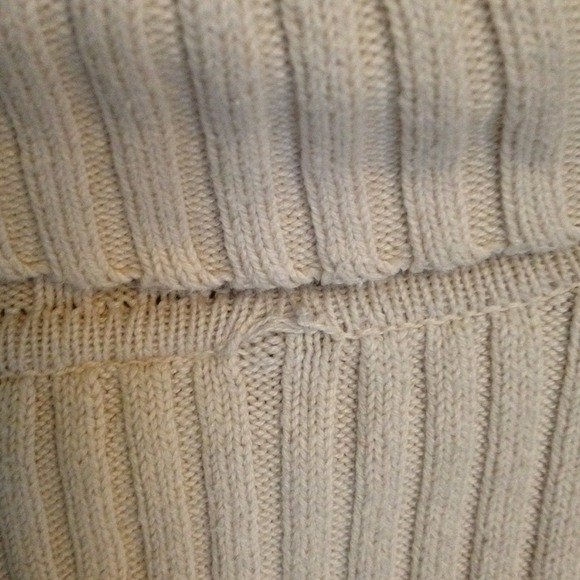 83% off GAP Other - Men's cream ribbed knit turtleneck sweater ...