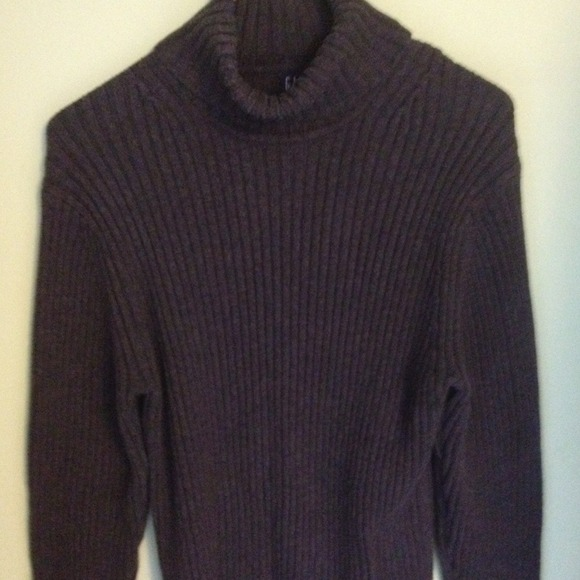 73% off GAP Other - Men's Dark grey ribbed knit turtleneck sweater ...
