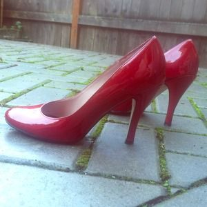 Patent Leather Steve Madden Pumps - Cherry Red
