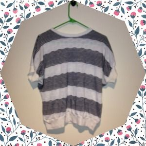 Vintage Patterned Striped Tee