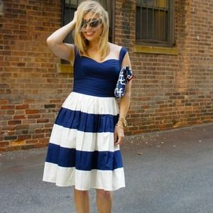 eShakti Dresses & Skirts - EShakti 'Her Fifties Colorblock' dress