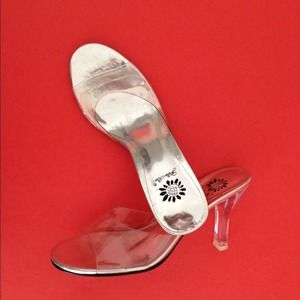 Shoes - Clear shoes, 2 .5 inch heel