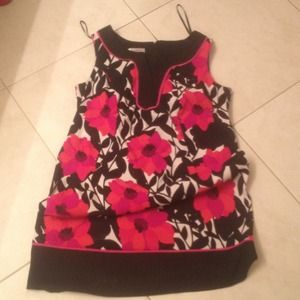 Dresses & Skirts - Black with red floral dress