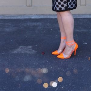 Shoes - Neon & Clear Captoe Pumps