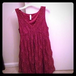 Rose lace dress-size L