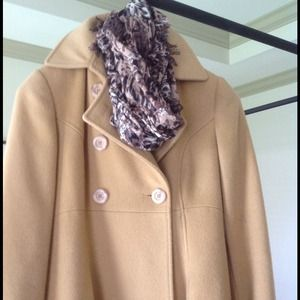 Camel wool coat. Pre-loved condition.