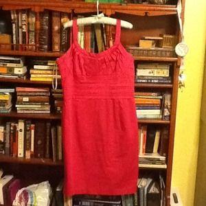 Hot pink Calvin Klein form-fitting dress