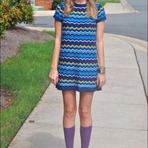 Missoni Dresses - NWOT Missoni for Target Blue Chevron Dress Size M.