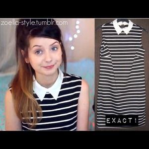 Zoella Primark Stripe Collar Dress