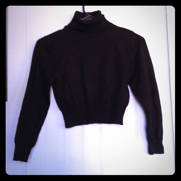 33% off Forever 21 Sweaters - Small black crop top turtleneck ...