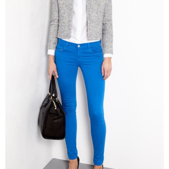 Electric Blue Skinny Jeans - Jon Jean