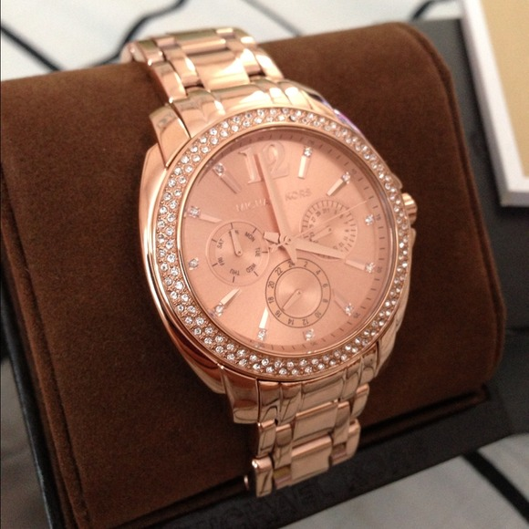 michael kors ���sold���authentic michael kors rose gold