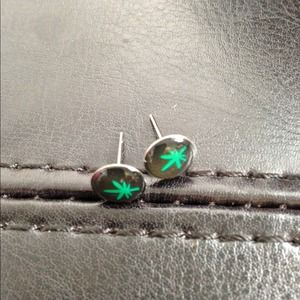 ⭕️LAST ONE!  Tiny Colorful Ganja Studs