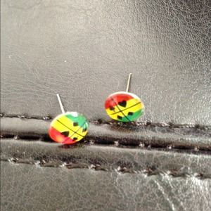 ⭕️LAST ONE!  Tiny Colorful Card Symbol Studs