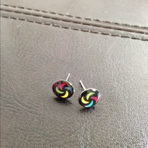 ⭕️LAST ONE!  Tiny Colorful Pinwheel Stud Earrings