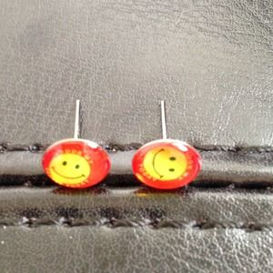 ⭕️LAST ONE!  Tiny Colorful Smiley Face Studs