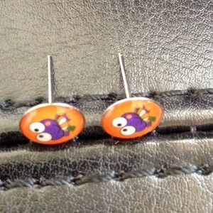 ⭕️LAST ONE! Tiny Colorful Cartoon Character Studs