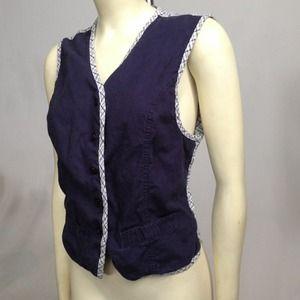 ⭐️️️BOGO 1/2 off⭐️Vintage linen vest
