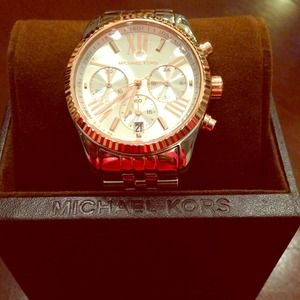 REDUCED Authentic Michael Kors two tone watch