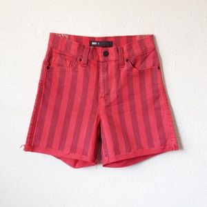 Levi's Red Striped High Waist Shorts  25
