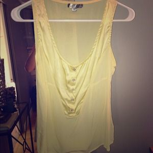 Pretty Yellow Chiffon Shirt - Size Medium